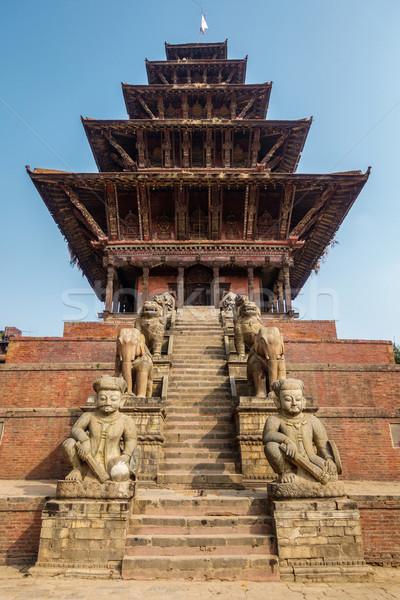 Nyatapola temple in Bhaktapur Stock photo © dutourdumonde