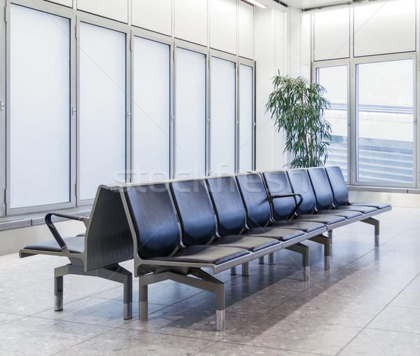 Leer Flughafen Lounge Licht Fenster Zimmer Stock foto © dutourdumonde