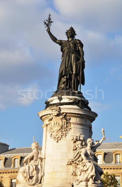 Statue lieu la femme main bleu Photo stock © dutourdumonde