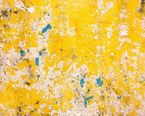 Grungy yellow wall texture Stock photo © dutourdumonde