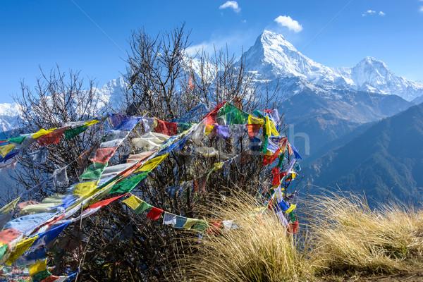 юг Непал природы горные флаг ткань Сток-фото © dutourdumonde