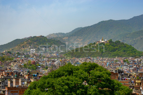 Kathmandu city and Swayambunath, Nepal Stock photo © dutourdumonde