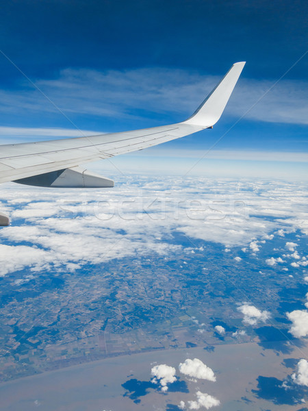 Wing of an airplane in flight Stock photo © dutourdumonde