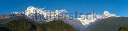 The Annapurna range panoramic view Stock photo © dutourdumonde