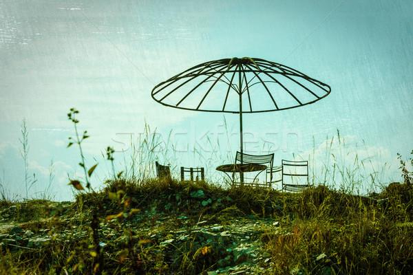 Abandoned picnic area Stock photo © dutourdumonde