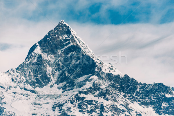 The Machhapuchhre (Fish Tail) in Nepal Stock photo © dutourdumonde