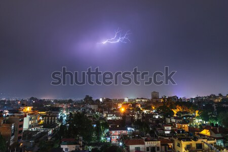 Lightning hitting Kathmandu Stock photo © dutourdumonde