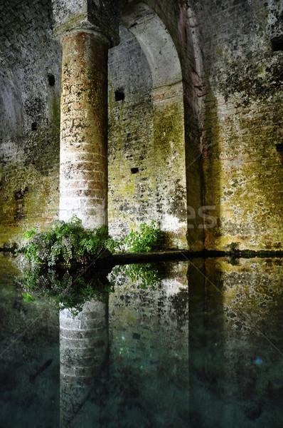 San Gimignano medieval fountain, Italy Stock photo © dutourdumonde