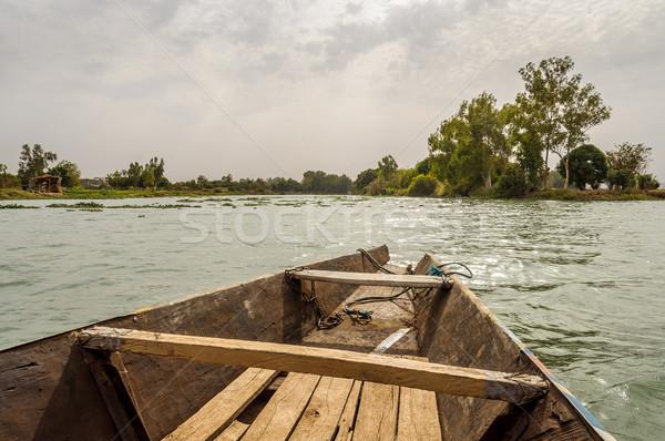 Pirogue on the Niger River Stock photo © dutourdumonde