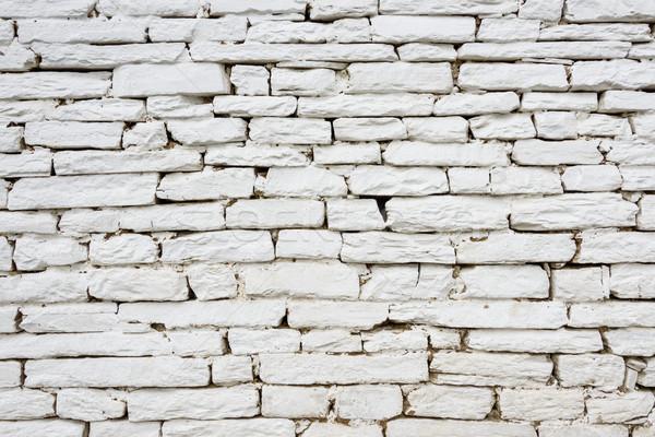 Beyaz taş duvar doku ev duvar soyut Stok fotoğraf © dutourdumonde
