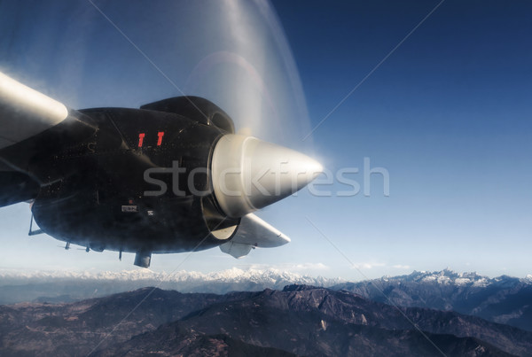 Гималаи плоскости Непал пропеллер полет снега Сток-фото © dutourdumonde