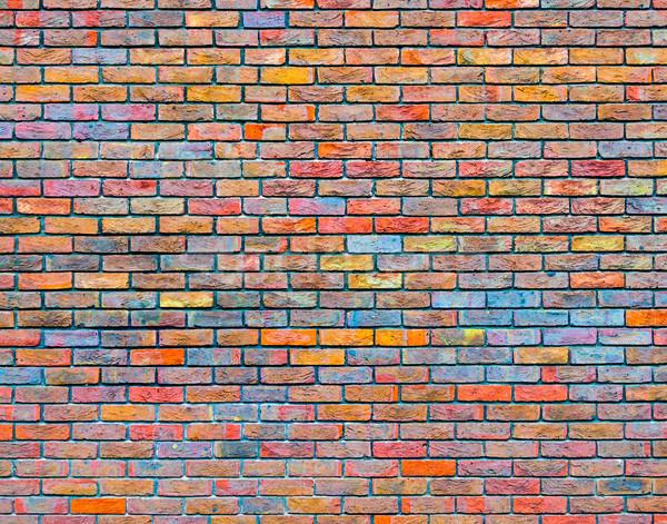 Colorful brick wall texture Stock photo © dutourdumonde