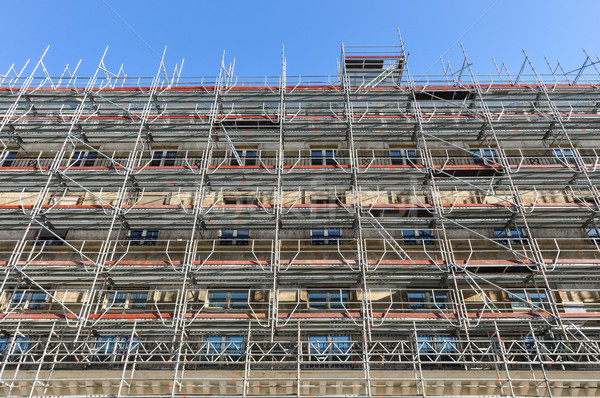 állványzat Párizs rendbehoz ősi épület építkezés Stock fotó © dutourdumonde