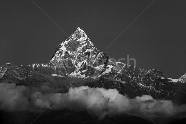 Непал черно белые фотографии природы пейзаж снега Сток-фото © dutourdumonde