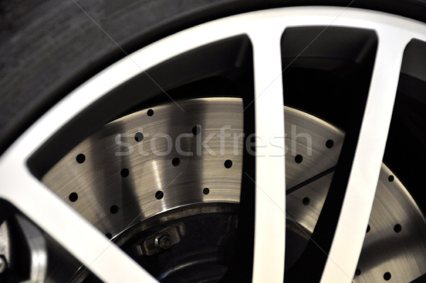Stock photo: Car disk brake