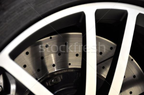 Auto disco freno nero potere Foto d'archivio © dutourdumonde
