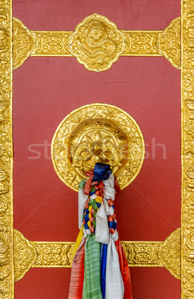 Buddhist monastery door detail Stock photo © dutourdumonde