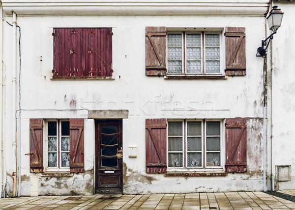 Domu fasada tekstury budynku ściany domu Zdjęcia stock © dutourdumonde