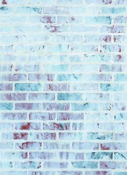 Whitewashed brick wall texture Stock photo © dutourdumonde
