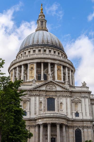 Kathedraal Londen boom godsdienst structuur kolommen Stockfoto © dutourdumonde