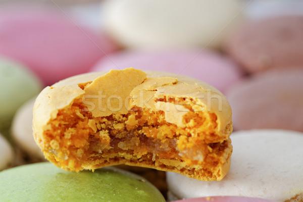 Bitten macaron Stock photo © dutourdumonde