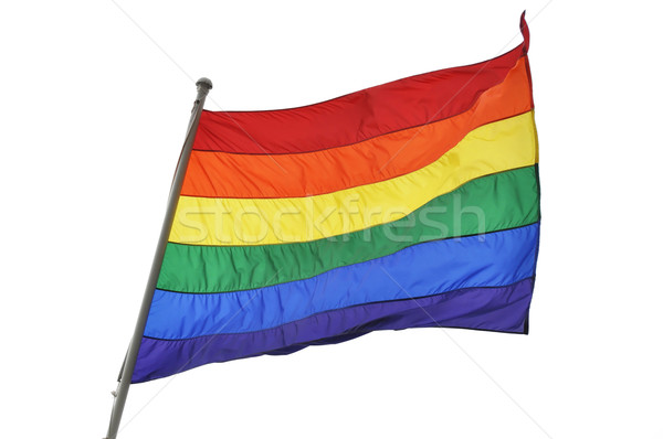 Rainbow flag on white background Stock photo © dutourdumonde