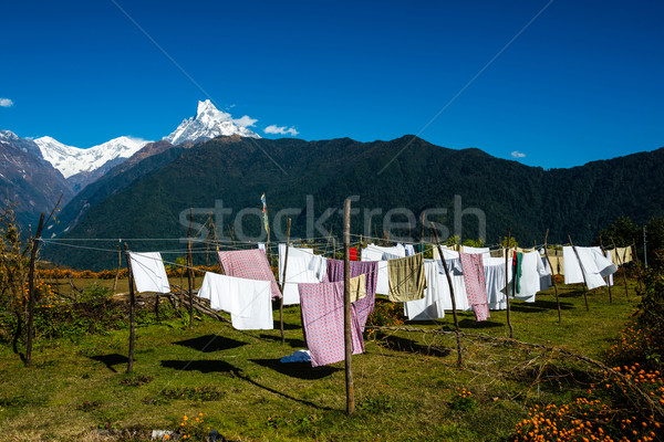 Laundry drying in Nepal Stock photo © dutourdumonde