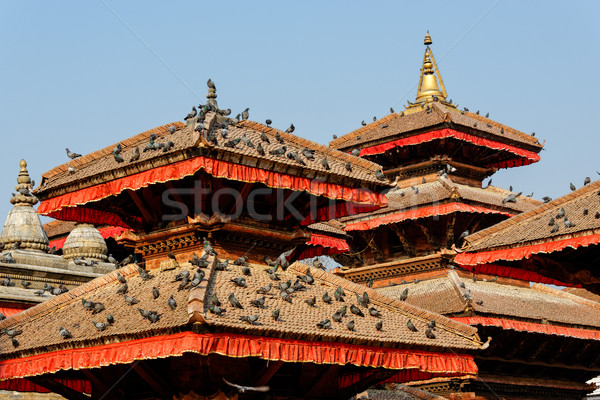 Pagodas at Durbar Square in Kathmandu Stock photo © dutourdumonde