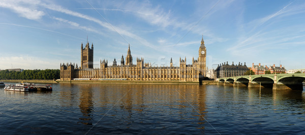 The House of Parliament and the Clock Tower in London Stock photo © dutourdumonde
