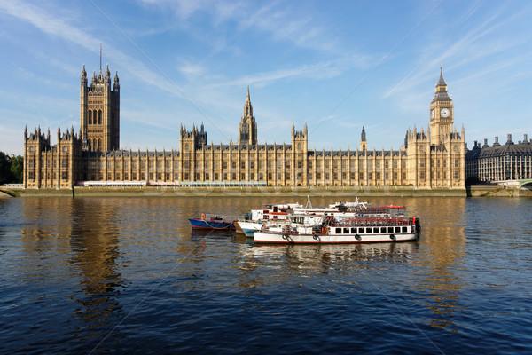 Maisons parlement Londres horloge tour Angleterre Photo stock © dutourdumonde