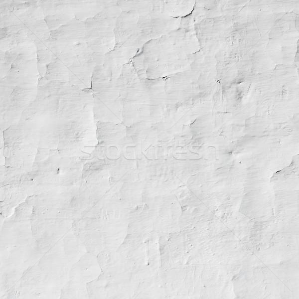 Foto stock: Branco · parede · pequeno · rachaduras · textura · edifício