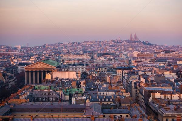 Paris Fransa kilise bazilika gökyüzü Stok fotoğraf © dutourdumonde