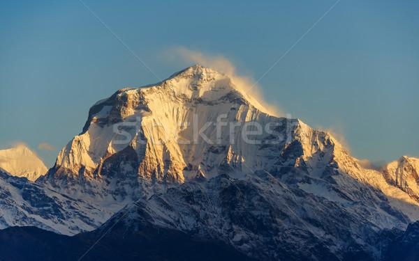 Восход Непал природы снега гор белый Сток-фото © dutourdumonde