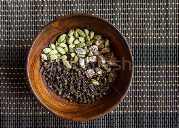 Nozes tigela natureza restaurante Foto stock © dutourdumonde