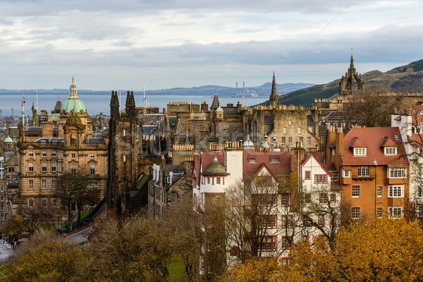 Edimburgo ver castelo escócia céu árvore Foto stock © dutourdumonde