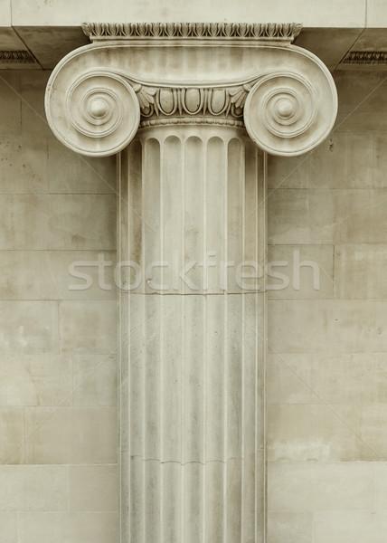 Ionica colonna dettaglio greco architettura costruzione Foto d'archivio © dutourdumonde