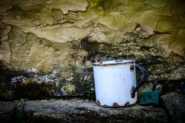 Old enamelware mug Stock photo © dutourdumonde