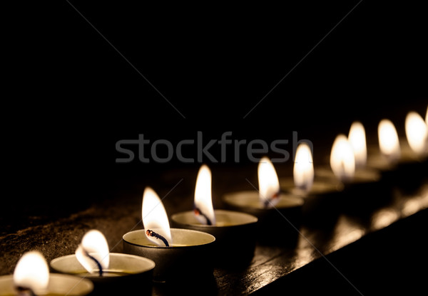 Candles in a row Stock photo © dutourdumonde