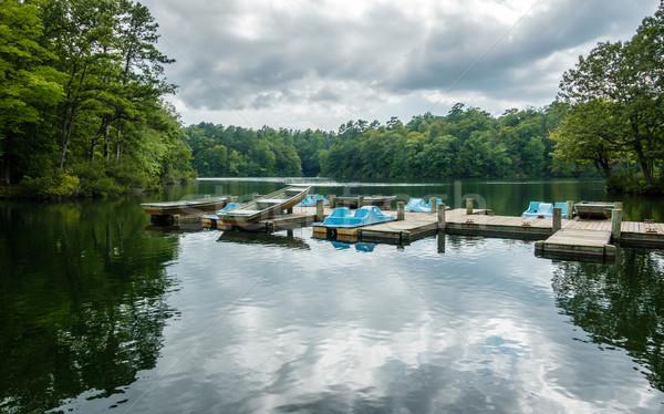 Bois quai lac Virginie USA aluminium Photo stock © dutourdumonde