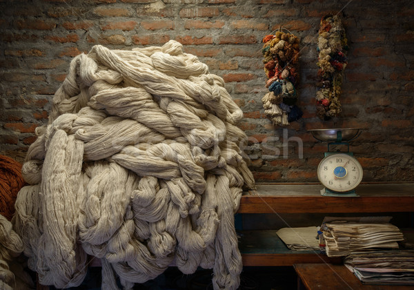 Plain wool in a rug factory Stock photo © dutourdumonde