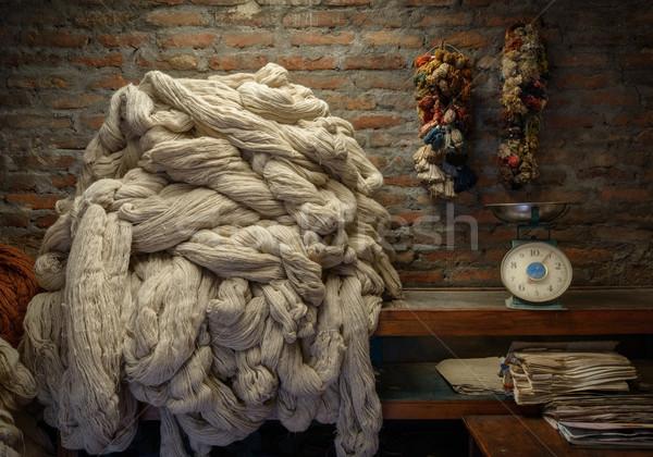 Wol fabriek kunst weefsel retro Stockfoto © dutourdumonde