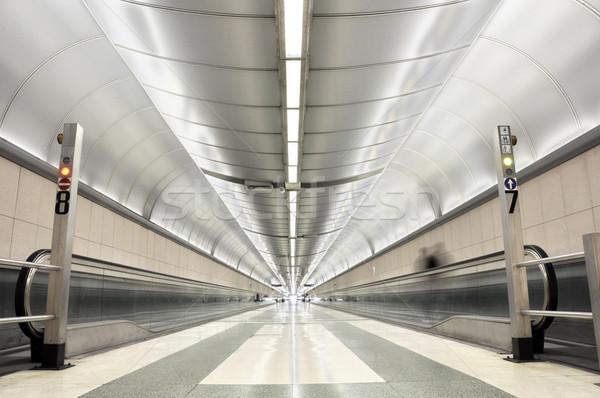 бесконечный коридор футуристический ковер электрических человек Сток-фото © dutourdumonde