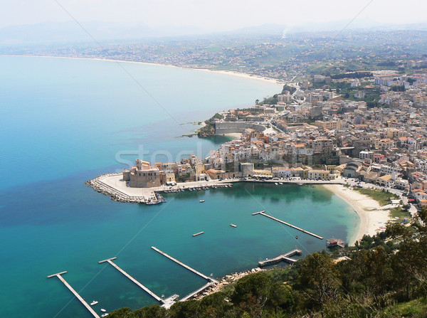 Sicilia Italia agua paisaje mar iglesia Foto stock © dutourdumonde