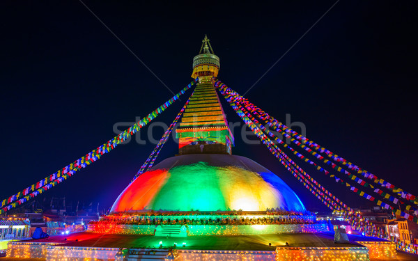 Boudhanath stupa in Kathmandu, Nepal Stock photo © dutourdumonde