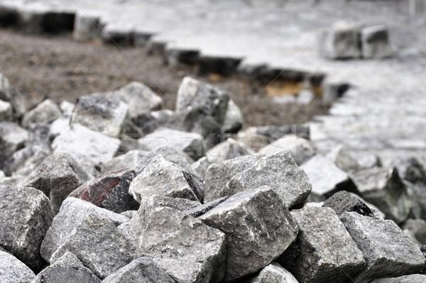 Cobblestones on a construction site Stock photo © dutourdumonde