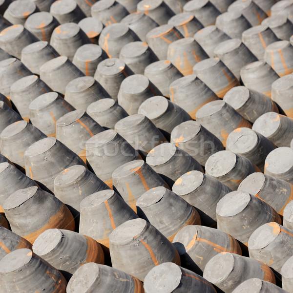 Aardewerk zon asian spaarvarken handel productie Stockfoto © dutourdumonde