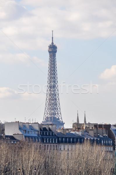 Эйфелева башня Париж Франция небе здании металл Сток-фото © dutourdumonde