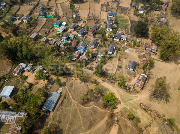 деревне Непал дома пейзаж домой Сток-фото © dutourdumonde