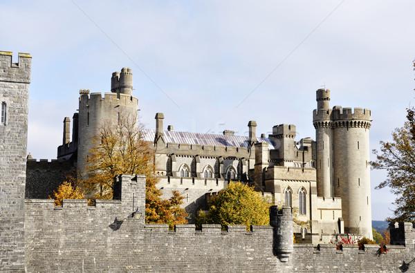 城 サセックス イングランド 建設 壁 石 ストックフォト © dutourdumonde
