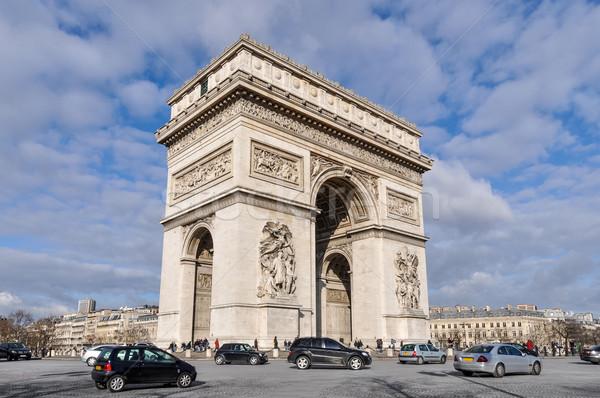 Arc de Triomphe Paris araba Bina şehir inşaat Stok fotoğraf © dutourdumonde